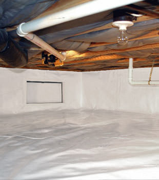 A complete crawl space repair system in Leominster