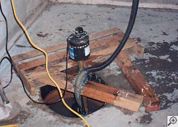 A Greenfield sump pump system that failed and lead to a basement flood.